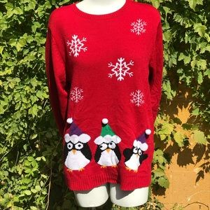 Penguin ugly Christmas sweater TB5